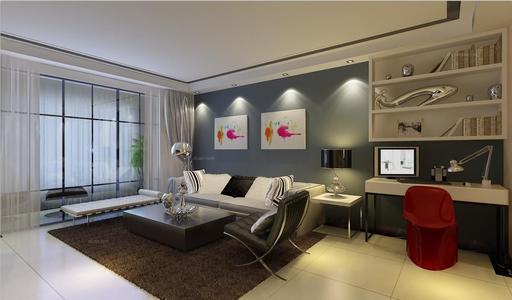 邯郸客厅装修设计及效果图(2)