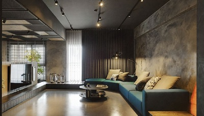 邯郸客厅装修设计及效果图(14)