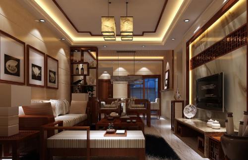邯郸客厅装修设计及效果图(15)