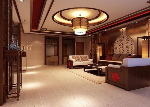 恩施州客厅装修设计及效果图(22)