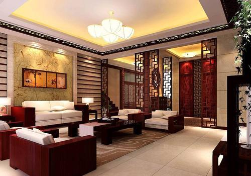 邯郸客厅装修设计及效果图(24)