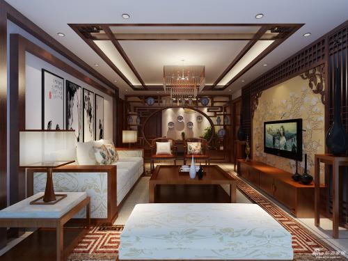 邯郸客厅装修设计及效果图(28)