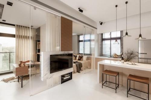 邯郸客厅装修设计及效果图(32)